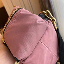 正品Burberry粉紅色金釦皮革小型後背包(已售出)