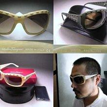 【信義計劃眼鏡】Salvatore Ferragamo 費洛加蒙 太陽眼鏡 義大利製皮革縫線大膠框 搭配涼鞋