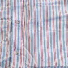 〔英倫空運小鋪〕[二手出清區] Cerruti Jeans 短袖 條紋襯衫 約XS 14.5
