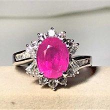 【艾琳珠寶藝術】天然粉紅色藍寶3.25CT鑽戒,未加熱處理(無燒),鑽石約0.5克拉,附中國寶石證書