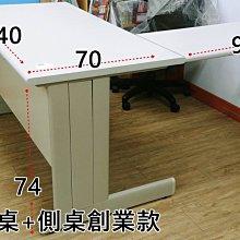 【土城二手OA辦公家具】灰白色L桌.二手精選品.主桌+側桌同高+便利腳*1支
