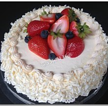◎花語人造花資材◎人造蛋糕* 仿真A8吋草莓奶油蛋糕*婚禮佈置~攝影~製作音樂盒~櫥窗