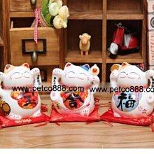 【🐱🐶培菓寵物48H出貨🐰🐹】4寸》進寶、旺福、大吉祝願貓│招財貓陶瓷儲蓄罐款式隨機 特價299元