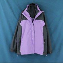 專櫃品牌DIADDRA大尺碼 紫灰拼接 長袖外套 XL號