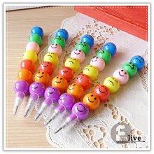 【贈品禮品】B2593 表情圓球鉛筆/彩虹筆笑臉鉛筆/糖葫蘆鉛筆/多段式鉛筆/造型鉛筆/免削鉛筆/文具用品