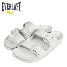 【橘子包包館】EVERLAST AB拖 戶外休閒拖鞋 4025220100 白色 男女款 拖鞋