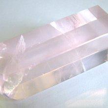 *☆彩晶坊☆*【紅粉透透】高檔冰種芙蓉粉晶印材(60x20x19mm56.9克)ma-26