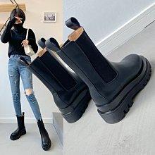 真皮鬆緊靴DANDT 時尚真皮鬆緊煙筒低中高筒短靴(20 OCT)同風格請在賣場搜尋 REG 或 歐美女鞋