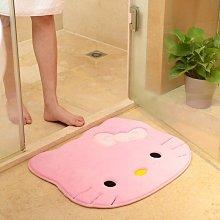 [新品]珊瑚絨地墊 地毯加厚 ?可愛卡通凱蒂貓 毛絨地墊 腳踏墊?浴室廁所 防滑墊 地墊 踏墊 吸水地墊 遇見良品G862RG