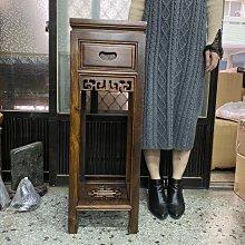 【居寶屋】 精選 雞翅木 30面88高 一抽花台 窗花雕 花台 藝品展示櫃 仿古實木家具