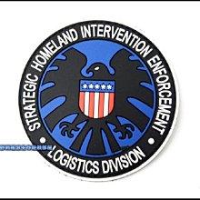 【野戰搖滾-生存遊戲】PVC塑料臂章、肩章【神盾局徽章 藍色款】S.H.I.E.L.D. 識別章 神盾局特工