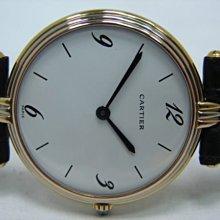 (板信當舖流當品) 少有 CARTIER 卡地亞 18K金 三色金 石英 女錶 9成5新 喜歡價可議PR080