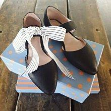 ♀️女:羊皮-側縷空寬帶尖頭瑪莉珍鞋、鍛帶鞋、瑪莉珍鞋、尖頭鞋、側縷空、寬帶、柔軟包鞋、大尺碼、41號加大