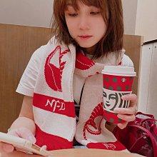 現貨!拉薩夫人 日本代購 鋼彈 unicorn strict-g 獨角獸 聯名 圍巾 紅白色