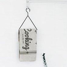 鄉村雜貨小市集*zakka 日雜款鐵製木柄毛巾抹布掛架(兩色)