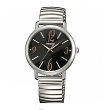 可議價 ORIENT東方錶 女 時尚圓黑面 石英腕錶 (FQC0E003B0)