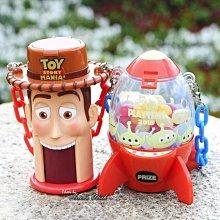 Ariels Wish日本東京迪士尼玩具總動員皮克斯三眼怪夾娃娃機火箭筒糖果盒糖果罐小物包包收納吊飾掛飾收納盒組絕版品