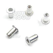 BuyTools-INSERT NUT SERIES 高品質鋁拉帽,歐盟標準,公制牙 M3*圓型*大唇,台灣製造「含稅」
