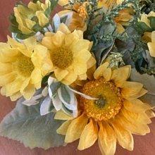 鄉村雜貨小市集*zakka 日本購回 仿真向日葵花環造花擺飾