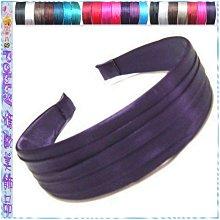 ☆POLLY媽☆美國Target咖啡、銀灰、紅、藍、紫…共12色絲亮緞縐褶髮箍~寬3cm7色 寬3.5cm14色