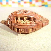 手工精雕核桃雕(古代船舫造型風格)超細微手工藝製品、稀少珍貴.非物質文化遺產名錄