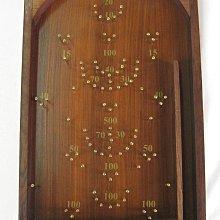 德國 Once A Tree 手工製原木懷舊復古木製彈珠台/桌遊/親子遊戲/木製玩具玩具