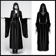 *MINI PUNK LOLO*黑暗哥德傳說-神秘古老蝕月黑魔法占卜女巫蕾絲立體雕花絲絨連身洋裝(Y-797)GOTHI