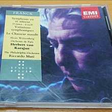 二手CD FRANCK SYMPHONY IN D MINOR KARAJAN WEISSENBERG EMI