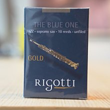 §唐川音樂§ 【法國 Rigotti The Blue One Soprano 高音竹片-10片裝】原Gold Jazz