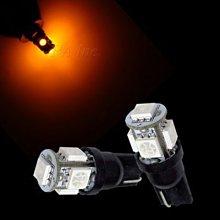 【PA LED】T10 5晶 15晶體 SMD LED 黃光 耐熱底座 小燈 方向燈 儀表燈 定位燈 牌照燈