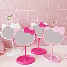YOYO日韓代購~日系少女心甜美卡通貓咪雙面化妝鏡ins學生臺式桌面梳妝鏡收納鏡