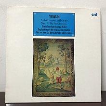 晨雨黑膠【古典】英版CRD/韋瓦第:和聲與創意的實驗 (包含四季協奏曲)/小提琴Simon Standage/平諾克指揮