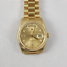 順利當舖 Rolex/勞力士  完全原裝實心新款118238型18K金新式包台鑽面男錶