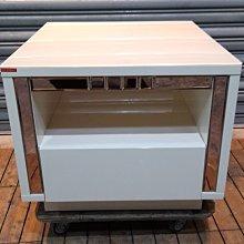 台中二手傢俱推薦 樂居全新中古家具 電器 A0517AH 白色鋼烤小茶几 茶几*梳妝台 鏡台 庫存臥室床組 沙發 餐桌