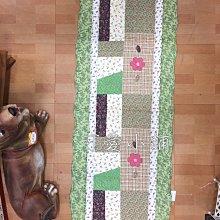 台中 ☆可愛小舖家具傢飾精品☆日式鄉村風zakka 拼布長地墊深綠色葉子造型 客廳房間廚房流理臺門口地毯兒童玄關床罩巧拼