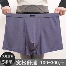 促銷全場五折 5條裝!男士加肥加大碼高腰內褲寬松肥佬短褲大碼胖子平角200斤-紫色微洋-可開發票