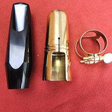 中音吹嘴~搭配束圈和黃銅護蓋,口風有5、6、7規格可選
