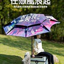 2.4米雙層加厚萬向漁傘釣魚傘大釣傘 遮陽傘防雨防曬防風專用雨傘加強鋁合金傘竿傘骨 萬向調節 任憑風浪起