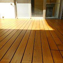 陽台。露台。南方松、木地板 、牆板、圍牆、實木地板