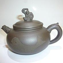 茶壺.紫砂壺.朱泥壺.手拉坯壺/早期名家十二生肖之猴壺