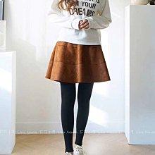 【莉莎小屋】正韓 秋冬新品(現貨) 💝韓國連線代購-横紋A字裙假兩件(裙+褲)👚👖OS201102