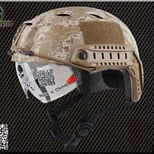 【野戰搖滾-生存遊戲】EMERSON 美軍 FAST傘兵盔+護目鏡 BJ版 (數位沙漠迷彩)