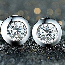 鑽石耳環0.5克拉精品名牌 舒適 不過敏 結婚 情人節禮物 鑽石高仿真鑽石純銀戒指 首飾   FOREVER莫桑鑽寶超取付款 免運費 購物愉快 有保障