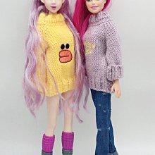 芭比 blythe 小布 娃娃卡通 貼圖 仿真 針織衫 針織 毛衣 冬季 長袖 上衣 服裝