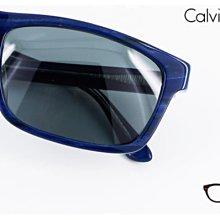 【My Eyes 瞳言瞳語】Calvin Klein 藍紋方膠框太陽眼鏡 雅痞最愛