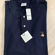 Brooks Brothers 1818brooks brothers男生短袖網眼polo衫 美版藍標 M號 全新正品 現貨在台 深藍色 金色刺繡logo圖案
