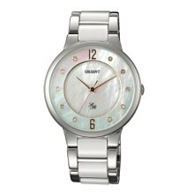 可議價 ORIENT東方錶 女 白色都會 石英腕錶 (FQC0J006W) 36mm
