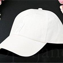 特價真品保證 Polo Ralph Lauren 白色純棉數字3大馬logo皮扣 復古老帽棒球帽鴨舌帽 愛Coach包包