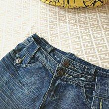 S小清新WEALTH HONOR雙層褲頭造型刷白牛仔五分/七分褲