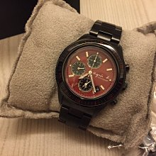 agnes.b紅色錶面黑色三眼錶